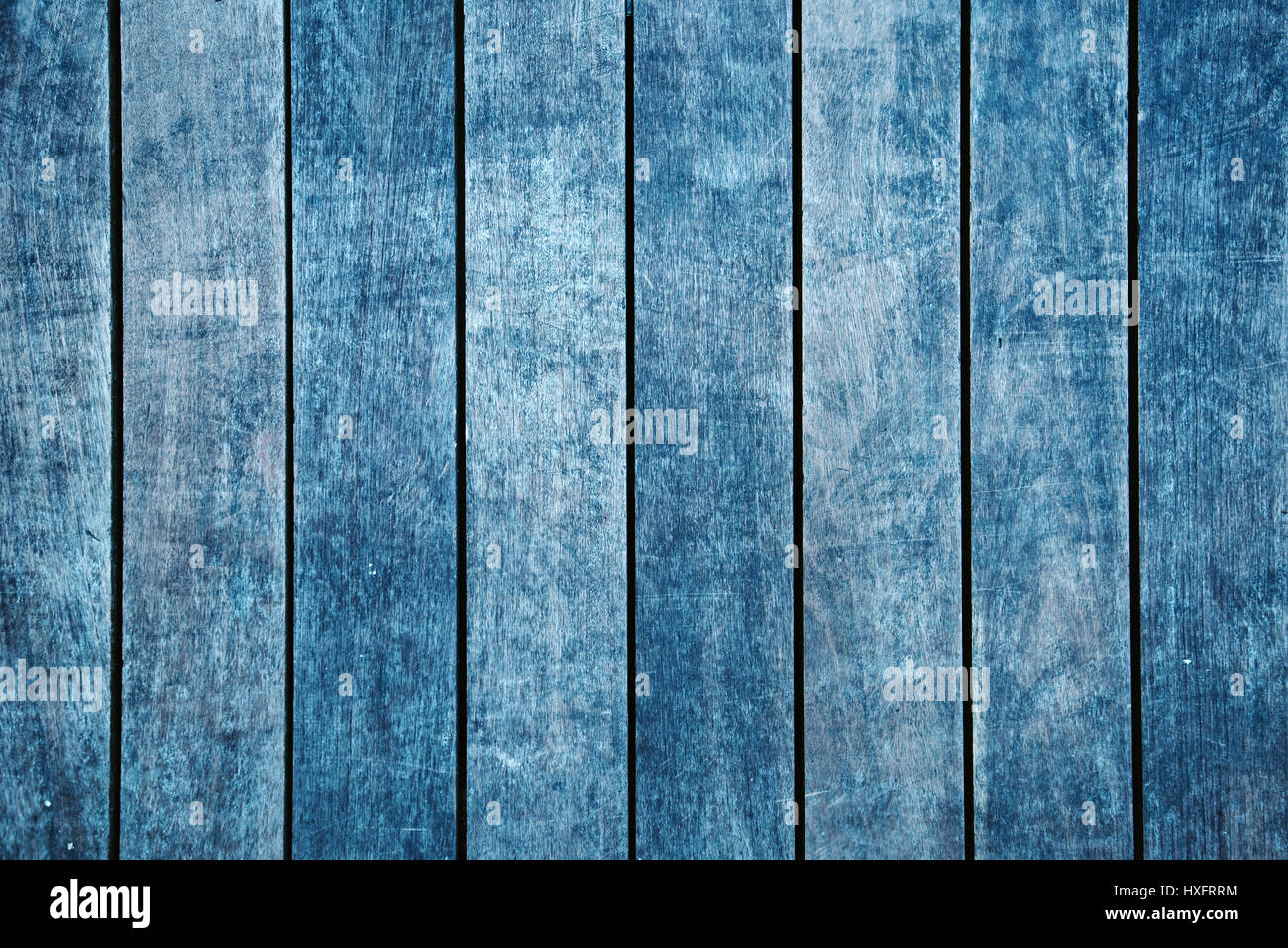 Weathered hardwood flooring texture, top view of old wooden planks Stock Photo