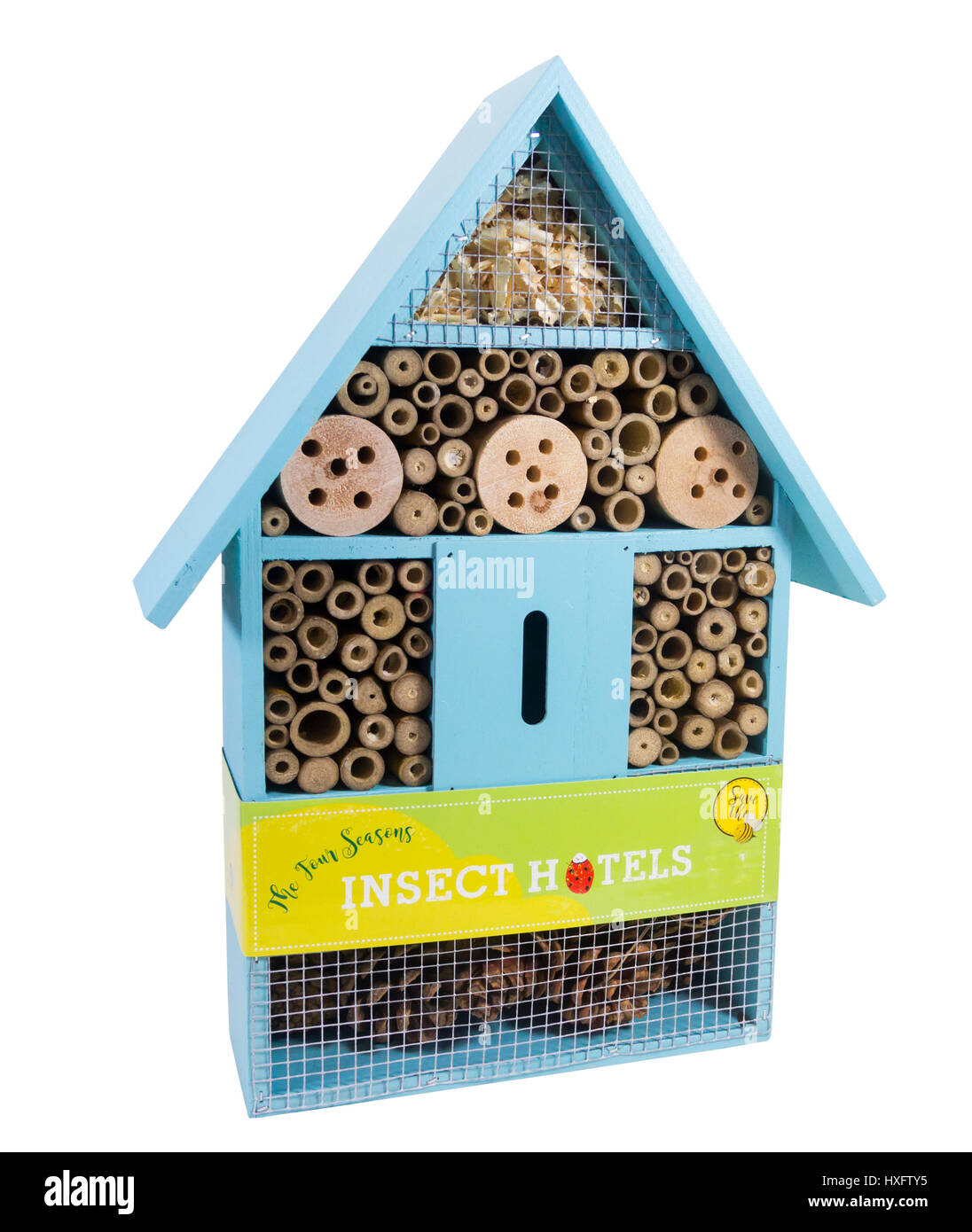 The Four Seasons Insect hotel by Garden Bazaar GB in its retail packaging. - Stock Image