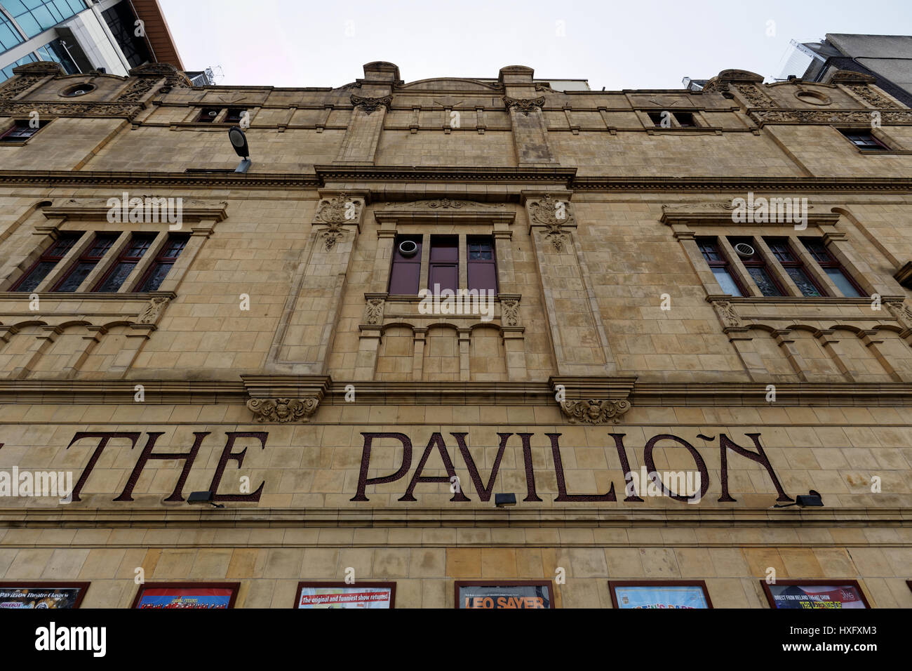 The Pavilion Theatre is a theatre in Glasgow located on Renfield Street. - Stock Image