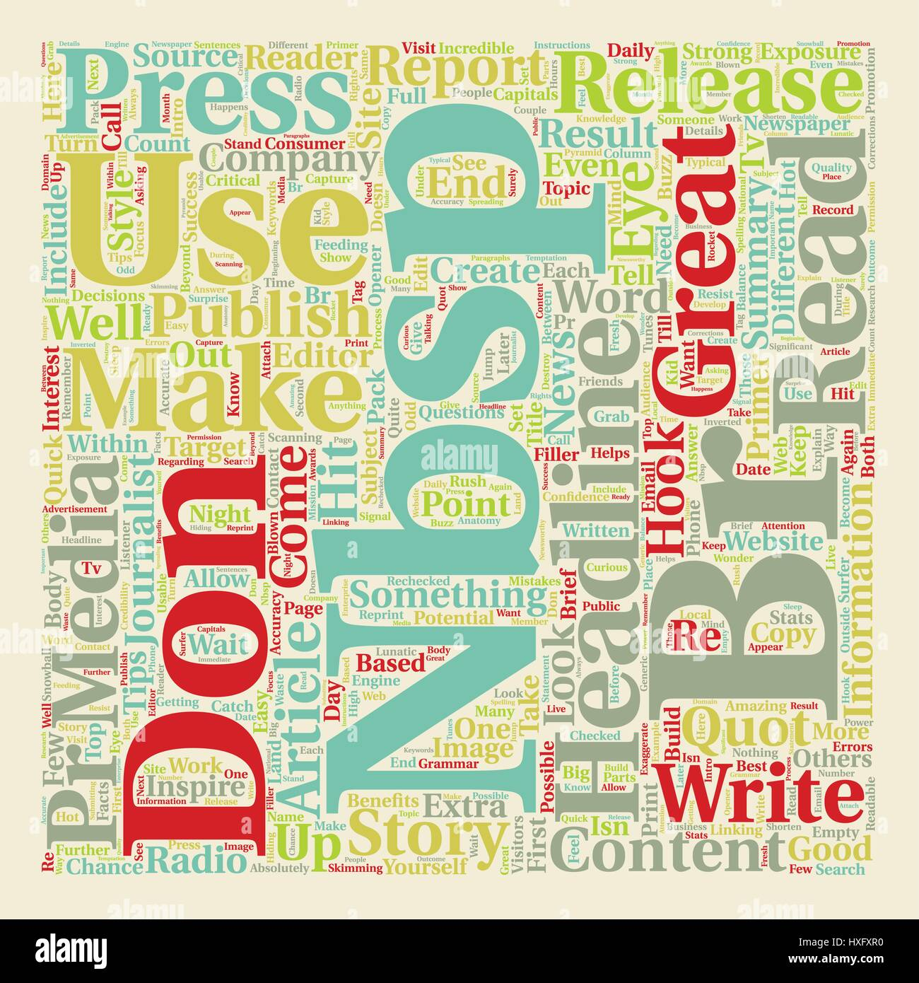 Press Releases Stock Vector Images - Alamy