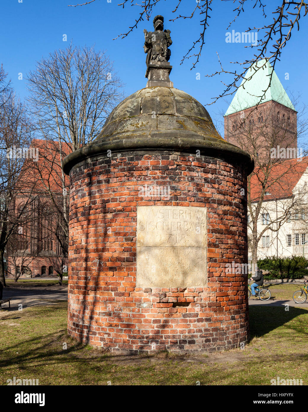 The Wusterhausener Bär (or Wusterhausischer Bär) is a small round tower with a helmet shaped dome that - Stock Image