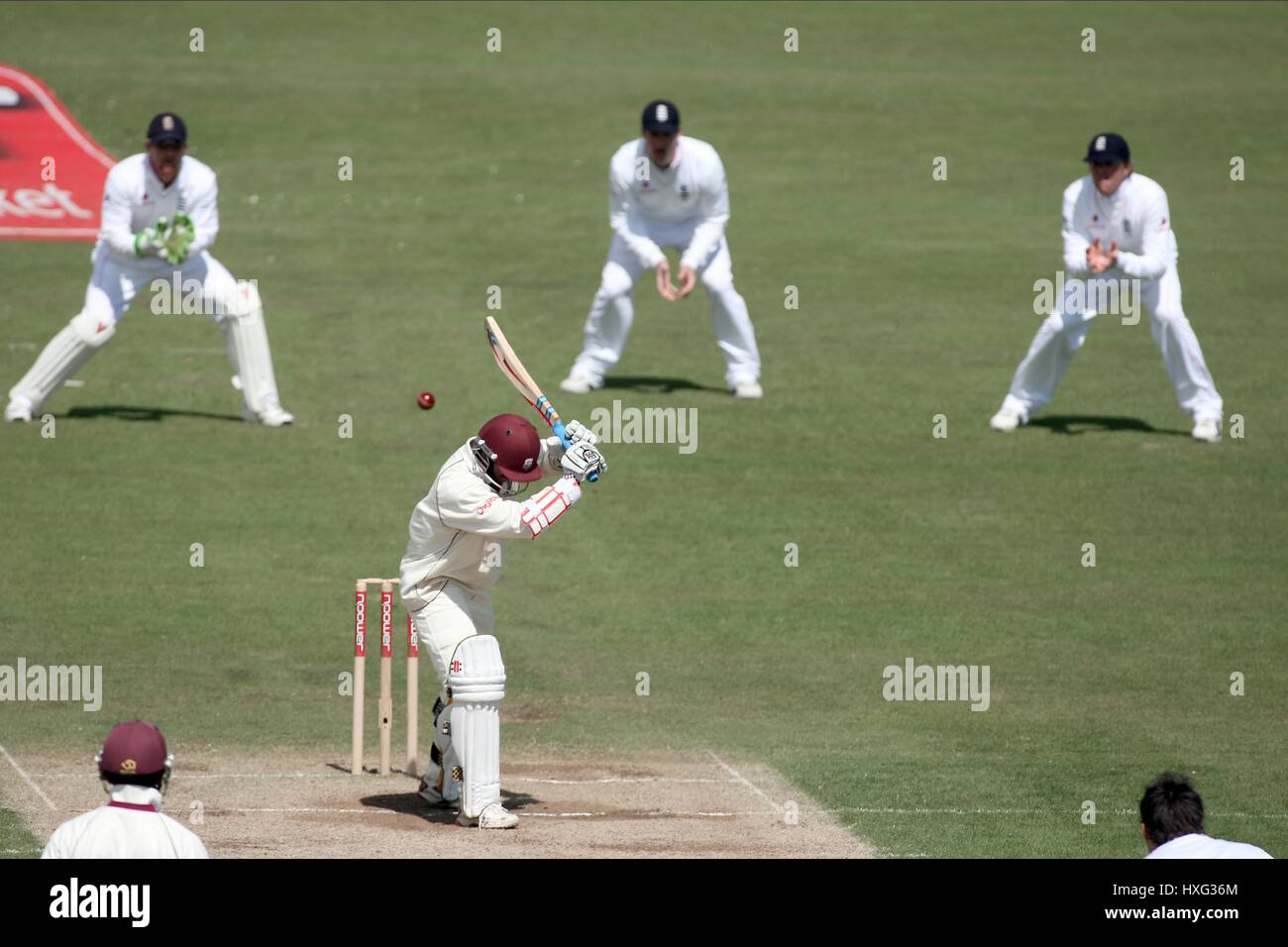 WICKET KEEPER & SLIPS ENGLAND V WEST INDIES THE RIVERSIDE CHESTER-LE-STREET ENGLAND 18 May 2009 - Stock Image