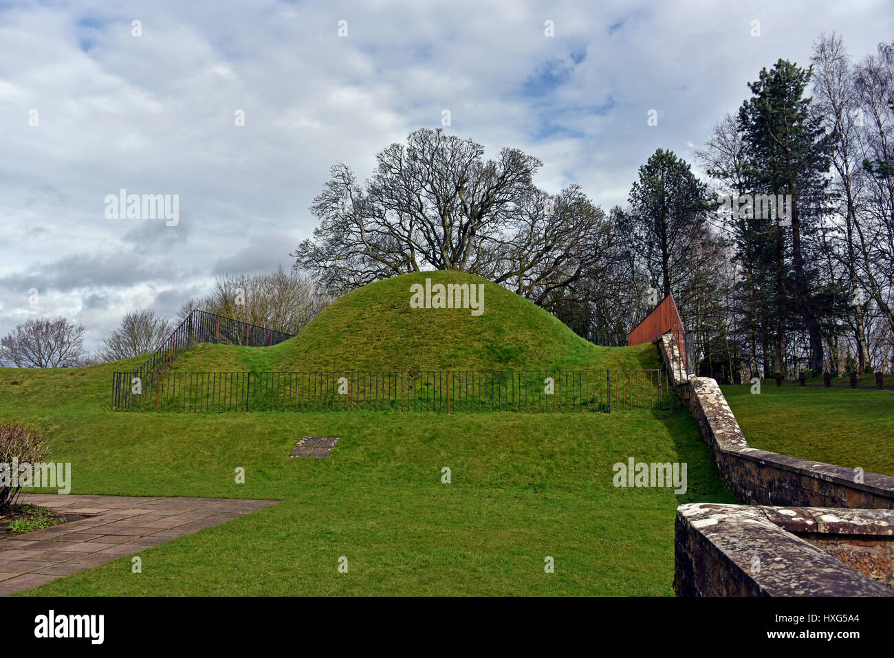 Site of the 'Leopard House' at the former Hunting Lodge. Chatelherault Country Park, Ferniegair, Hamilton, - Stock Image