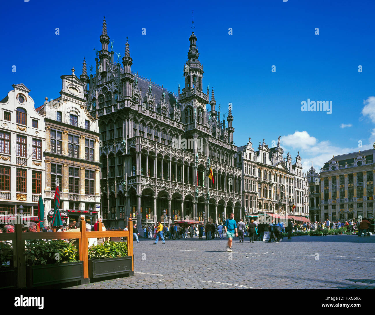The Kings Palace, Grand Place, Brussels, Belgium. Stock Photo