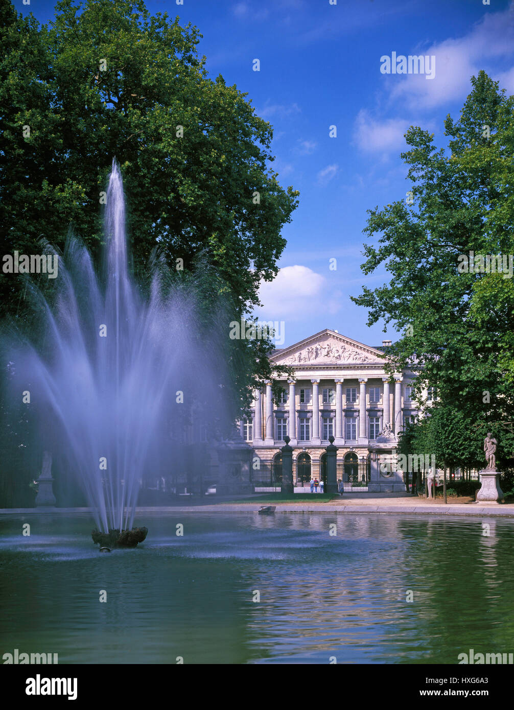 Palace of the Nation, the Royal Palace, Brussels, Belgium - Stock Image