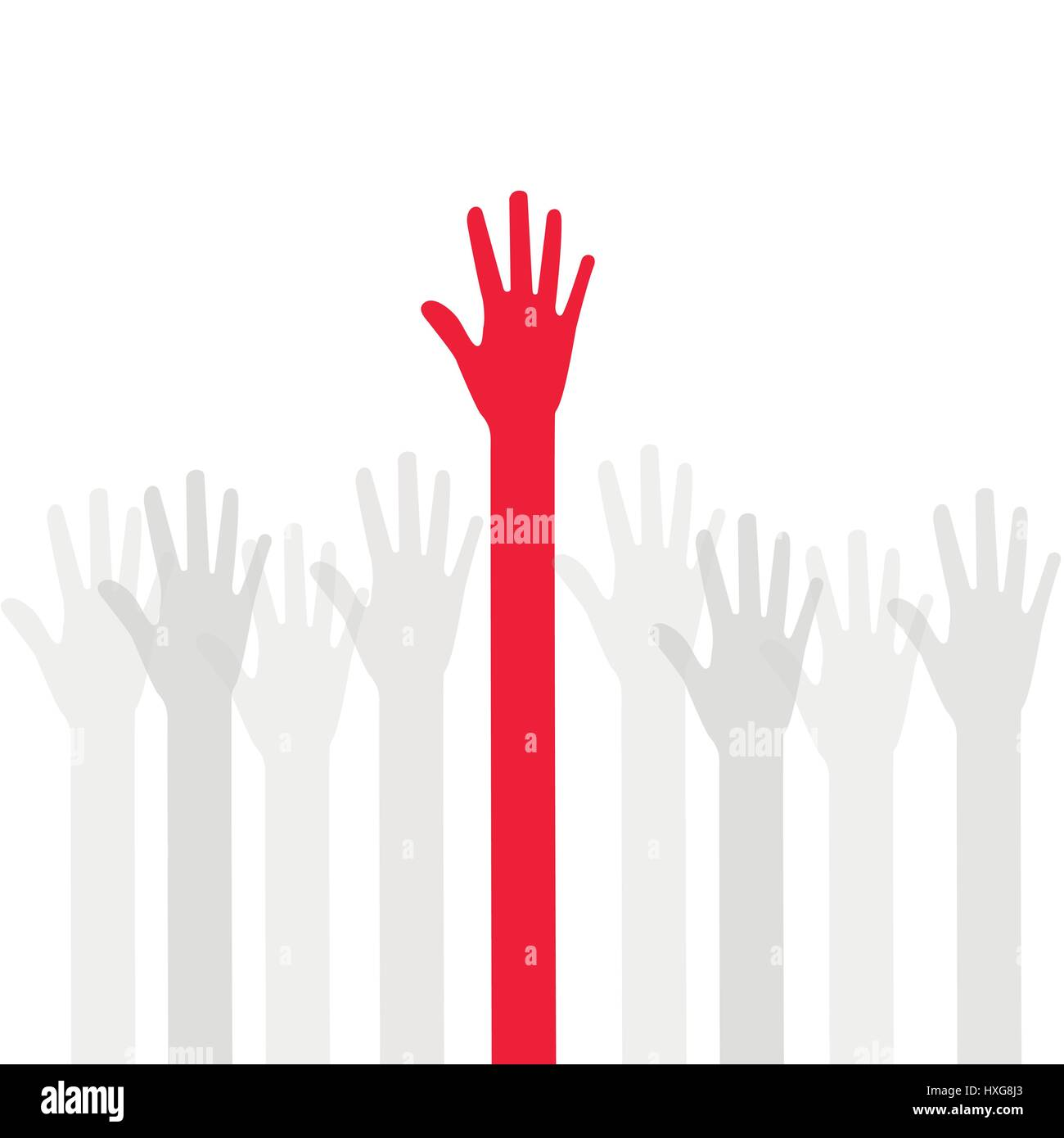 A lot of hands - Stock Vector
