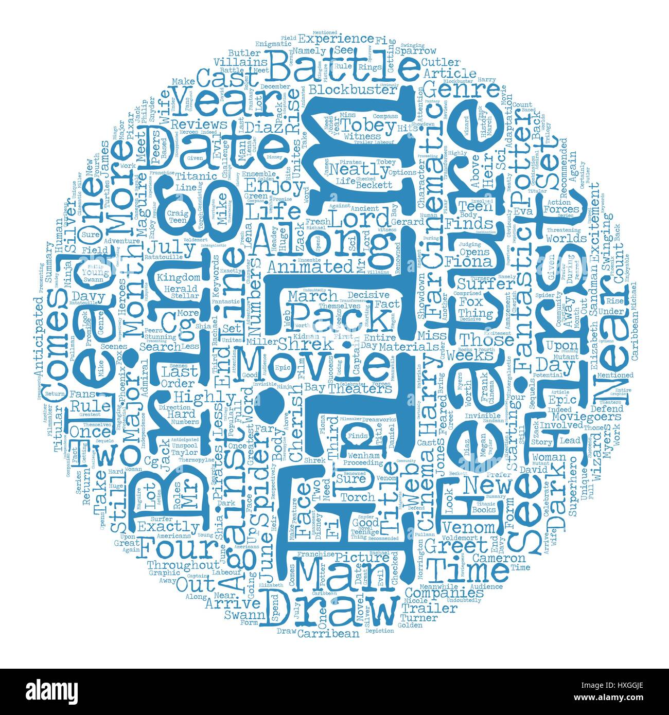 Recommended Movie In 2007 text background wordcloud concept - Stock Vector