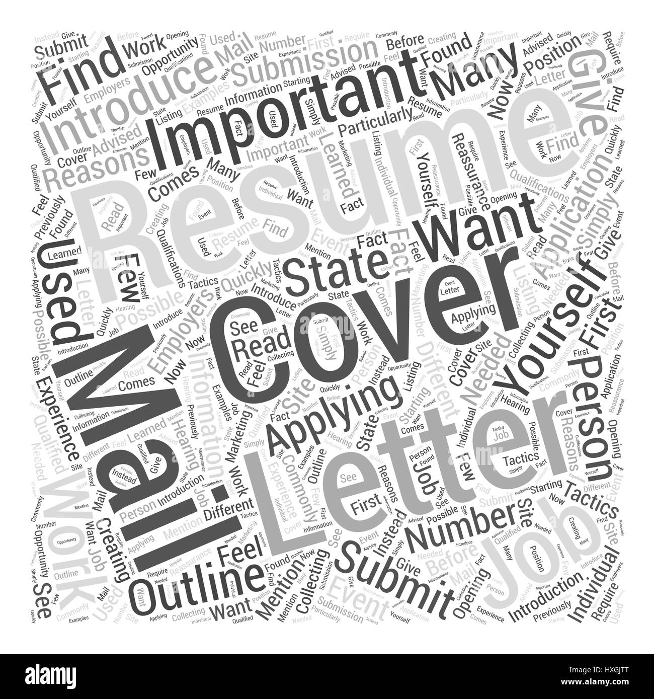 Resume Submission The Importance of Cover Letters Word Cloud Concept ...