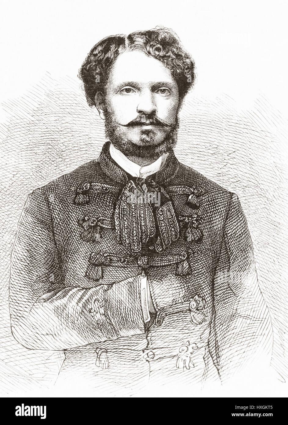 Count Gyula Andrássy de Csíkszentkirály et Krasznahorka, 1823 –1890.  Hungarian statesman,  Prime - Stock Image