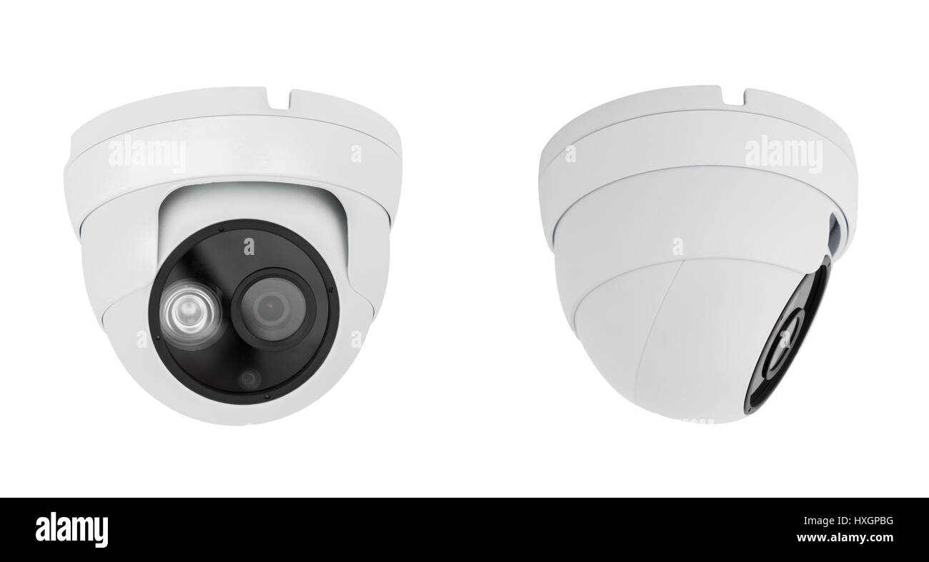 Security camera ceiling type isolated on white background