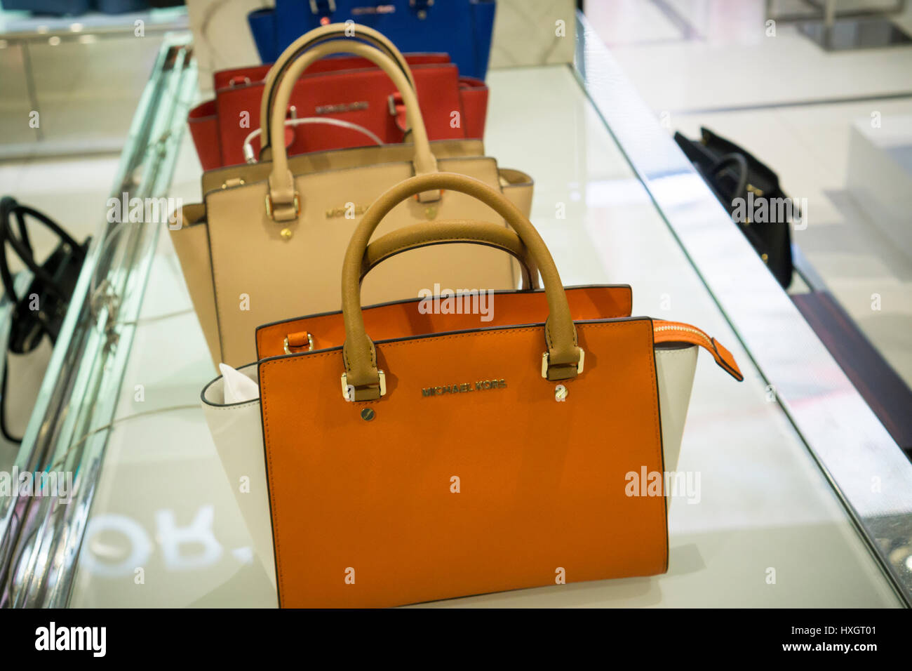 44de712dcf3b Michael Kors handbags in the Macy's Herald Square flagship store on Sunday,  March 26,