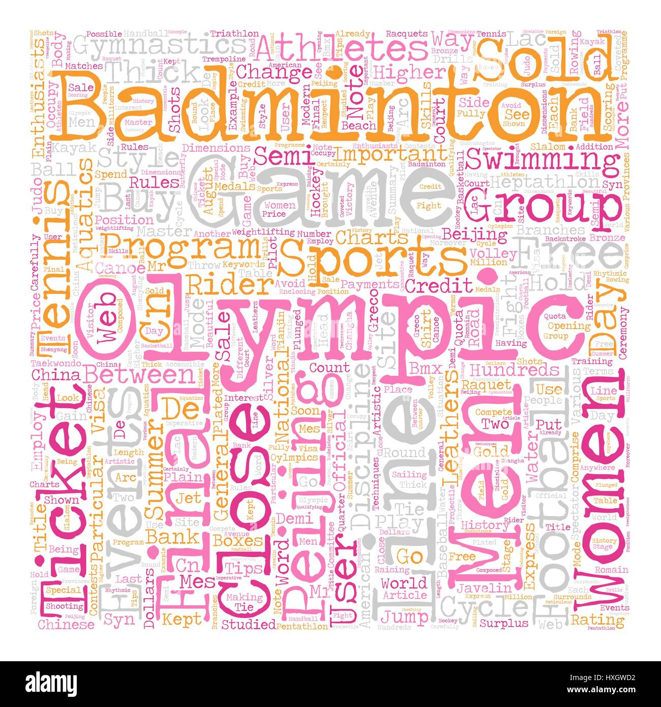 Sports And The Oylmpics text background wordcloud concept - Stock Vector