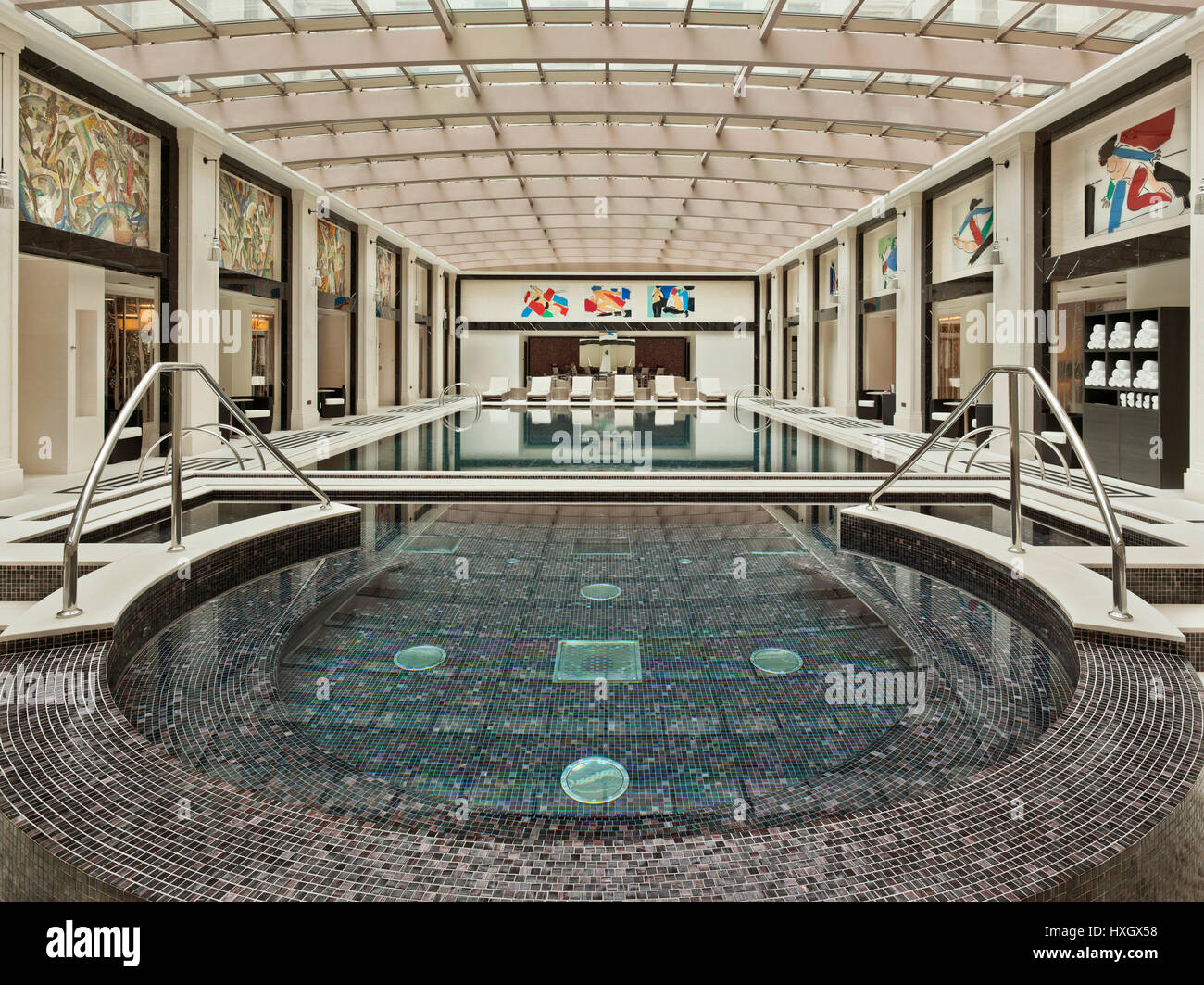 Swimming pool in a luxury Hotel in Moscow Stock Photo