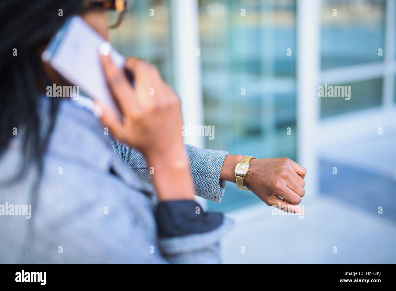 She's so busy all the time - Stock Image