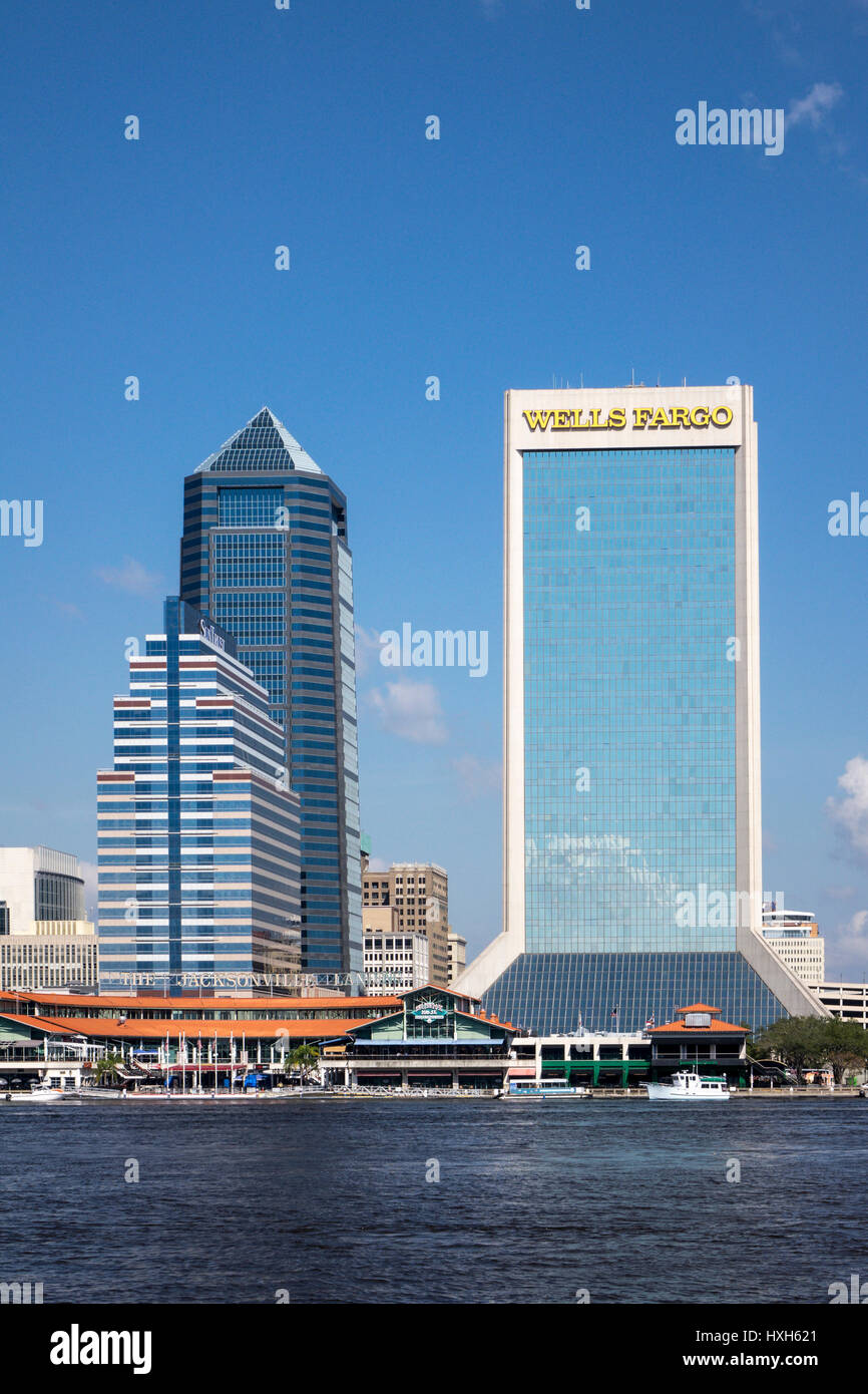 Wells Fargo building, Jacksonville buildings, Florida, USA Stock Photo