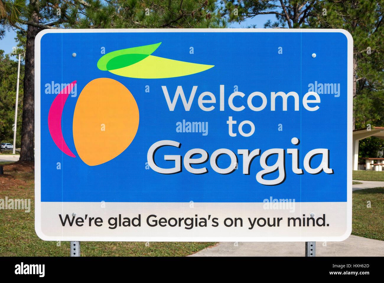 Georgia Welcome Sign Stock Photos & Georgia Welcome Sign Stock ...