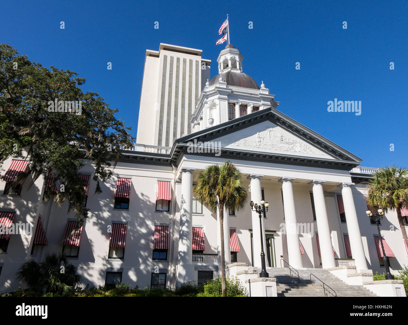 New Florida State Capitol building, Tallahassee and Historic Capitol Museum, USA Stock Photo