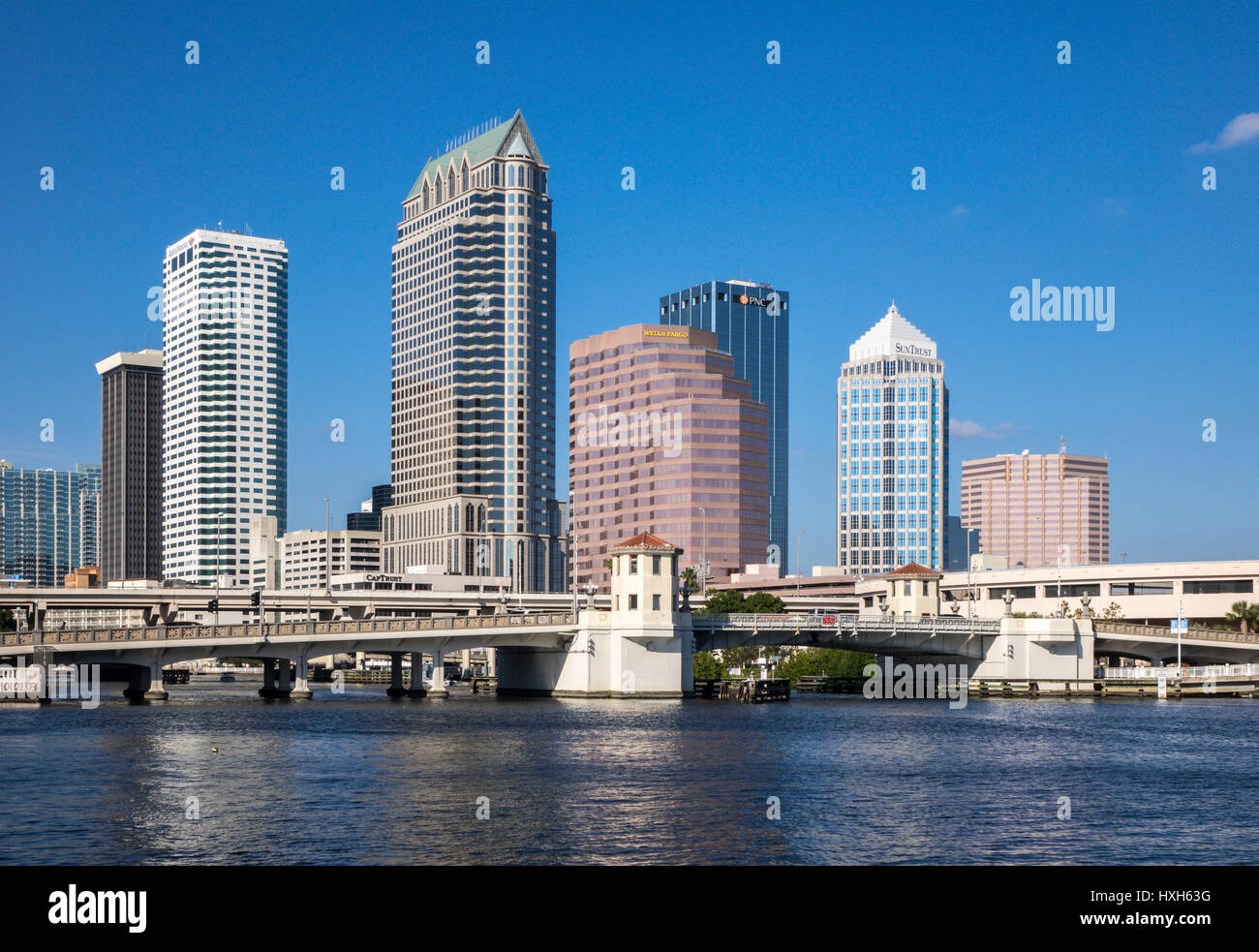 Tampa skyline CBD skyscrapers, Florida, USA Stock Photo