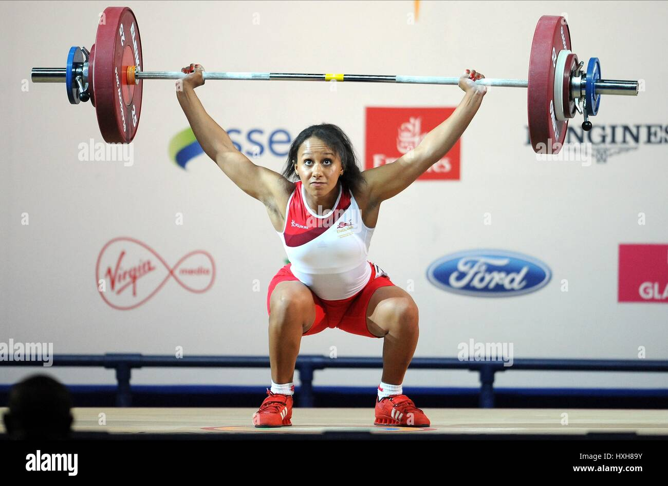 ZOE SMITH WOMEN'S WEIGHTLIFTING WOMEN'S WEIGHTLIFTING CLYDE AUDITORIUM GLASGOW SCOTLAND 26 July 2014 - Stock Image