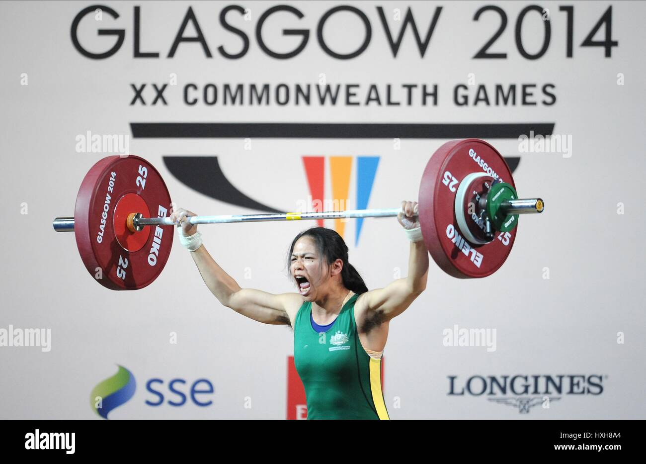 SEEN LEE WOMEN'S WEIGHTLIFTING WOMEN'S WEIGHTLIFTING CLYDE AUDITORIUM GLASGOW SCOTLAND 26 July 2014 - Stock Image