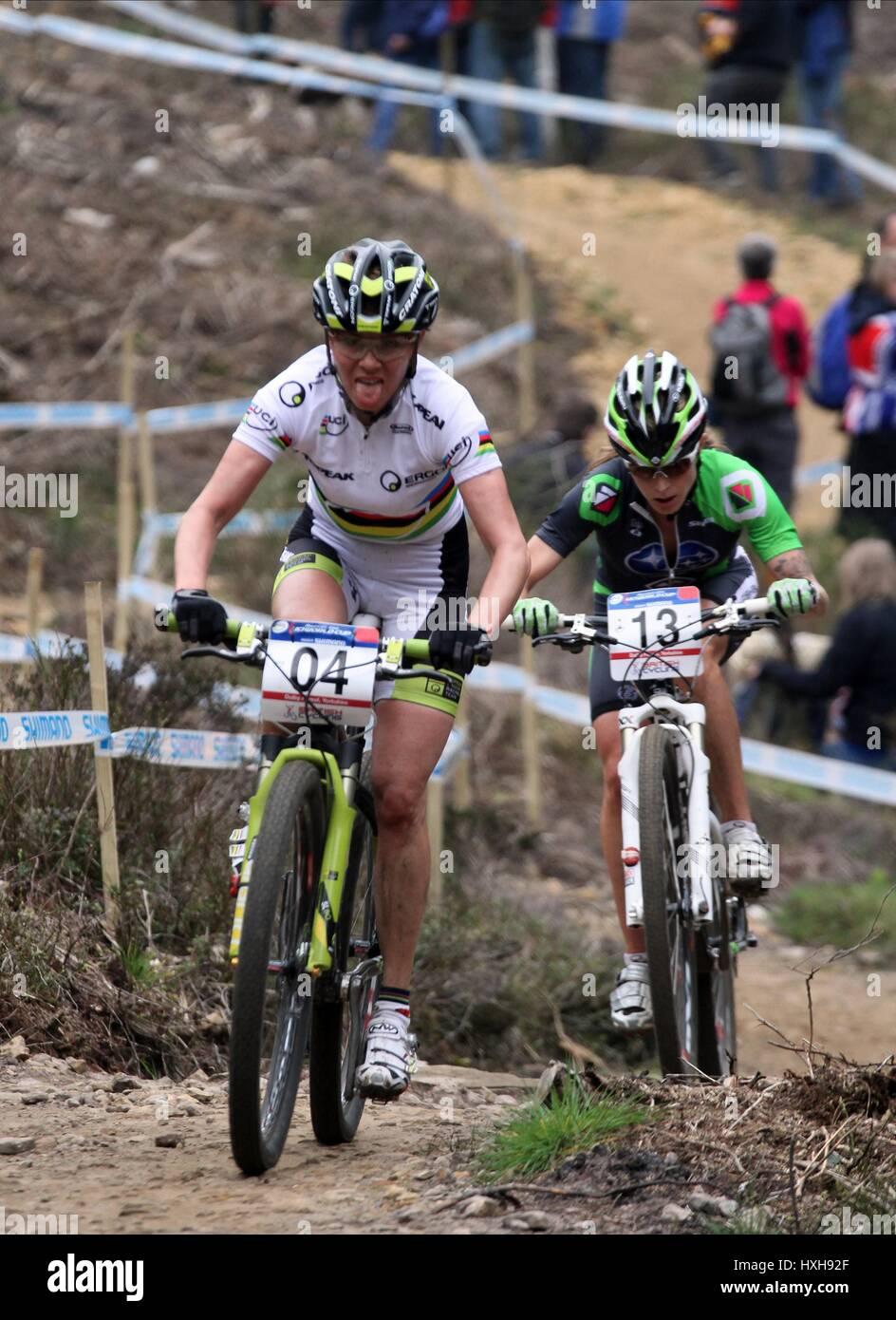 IRINA KALENTIEVA UCI MOUNTAIN BIKE WORLD CUP DALBY FOREST ...