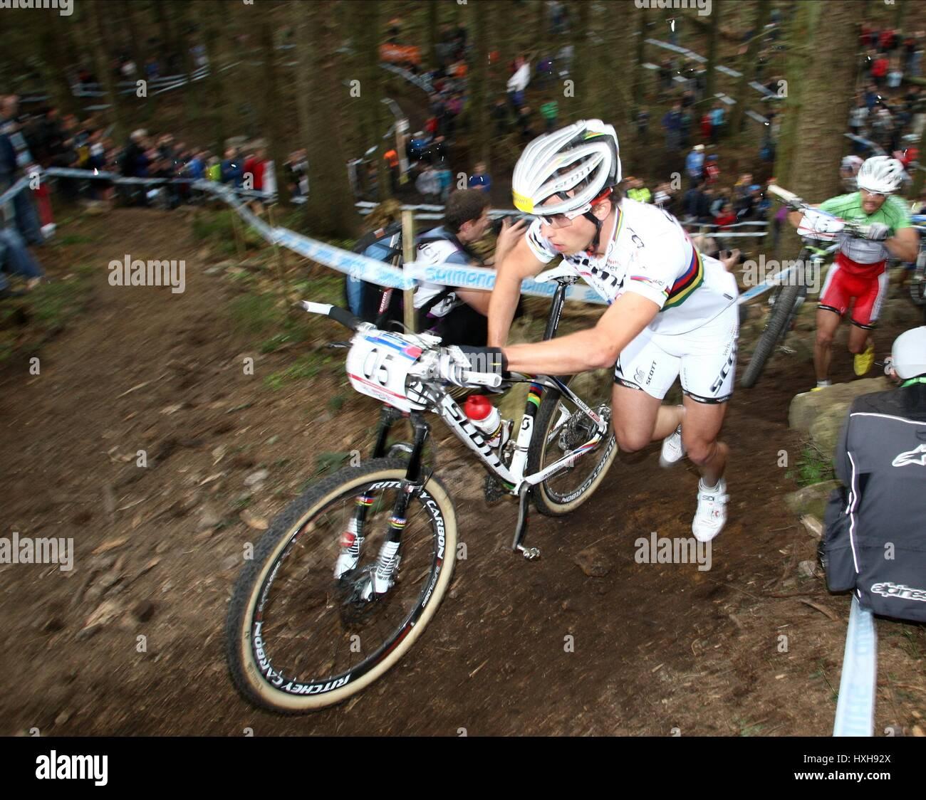 NINO SCHURTER UCI MOUNTAIN BIKE WORLD CUP DALBY FOREST YORKSHIRE ...