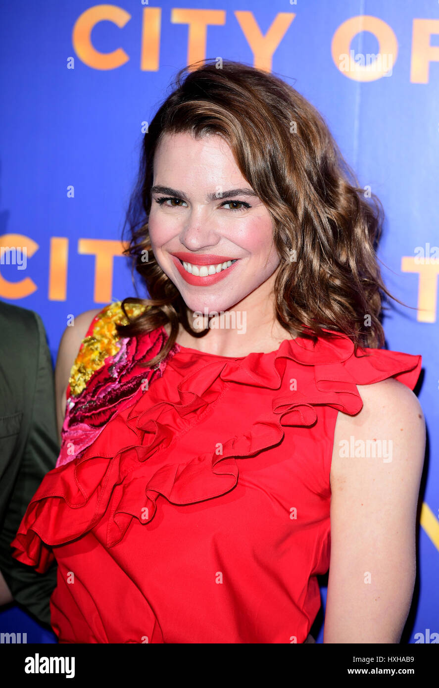Billie Piper arriving for the City of Tiny Lights Photocall held at the BFI Southbank in London. - Stock Image