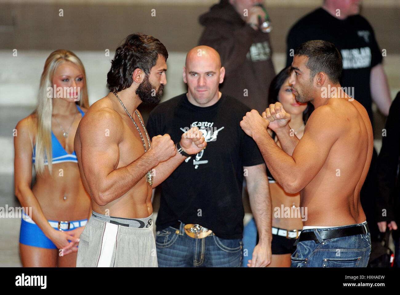 ANDREI ARLOVSKI & FENDERICO WE UFC HEAVY WEIGHT FIGHTERS MANCHESTER  ENGLAND 20 April 2007 - Stock Image