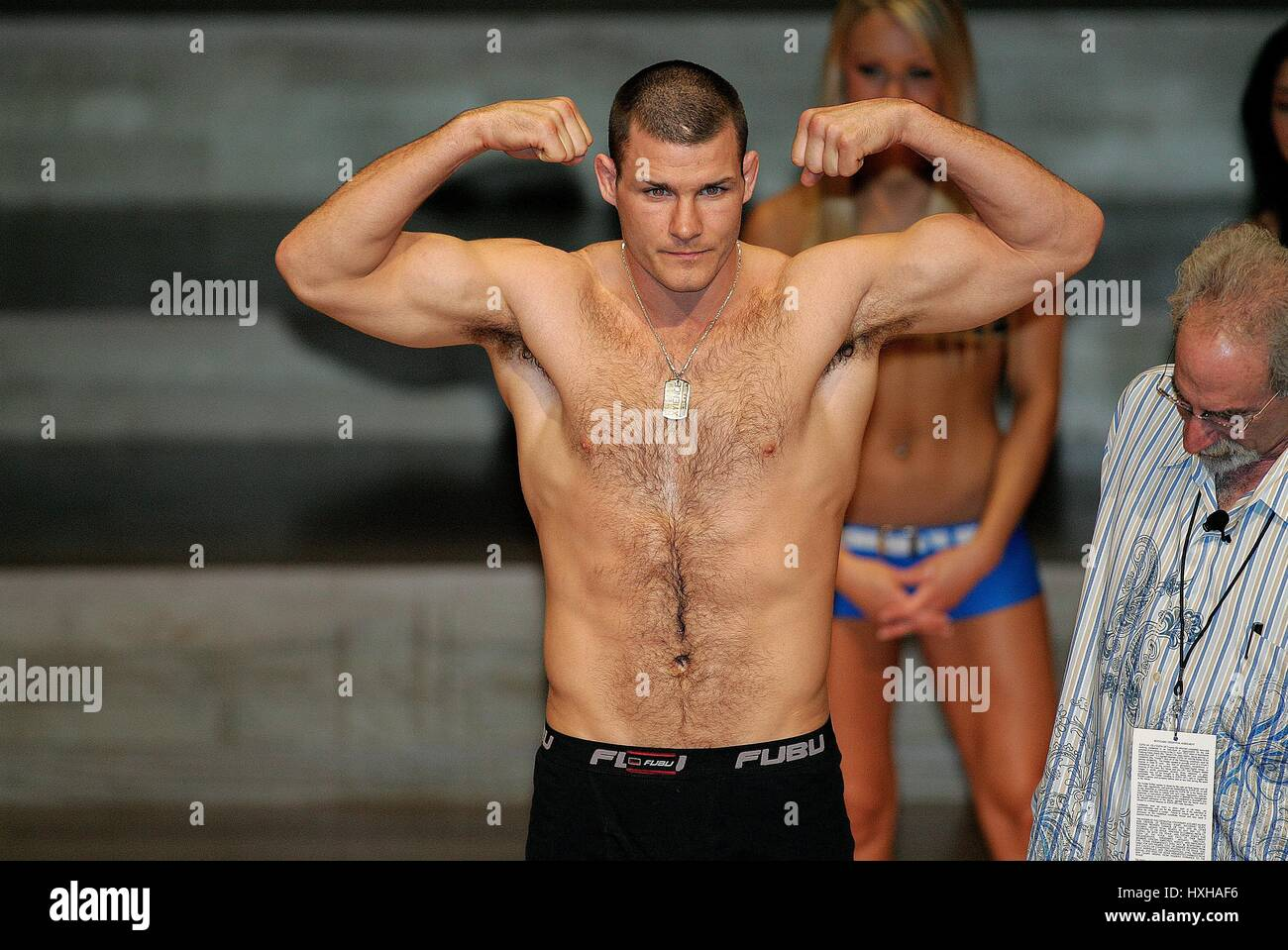 MICHAEL BISPING UFC LIGHT-HEAVY WEIGHT FIGHTER MANCHESTER  ENGLAND 20 April 2007 - Stock Image