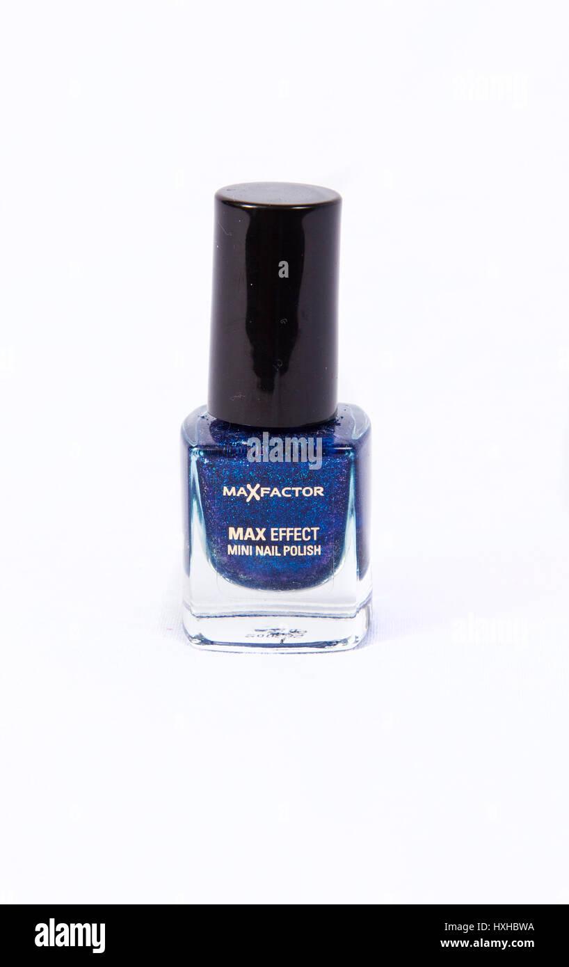 Max Factor Max Effect Odyssey Blue Nail Polish - Stock Image