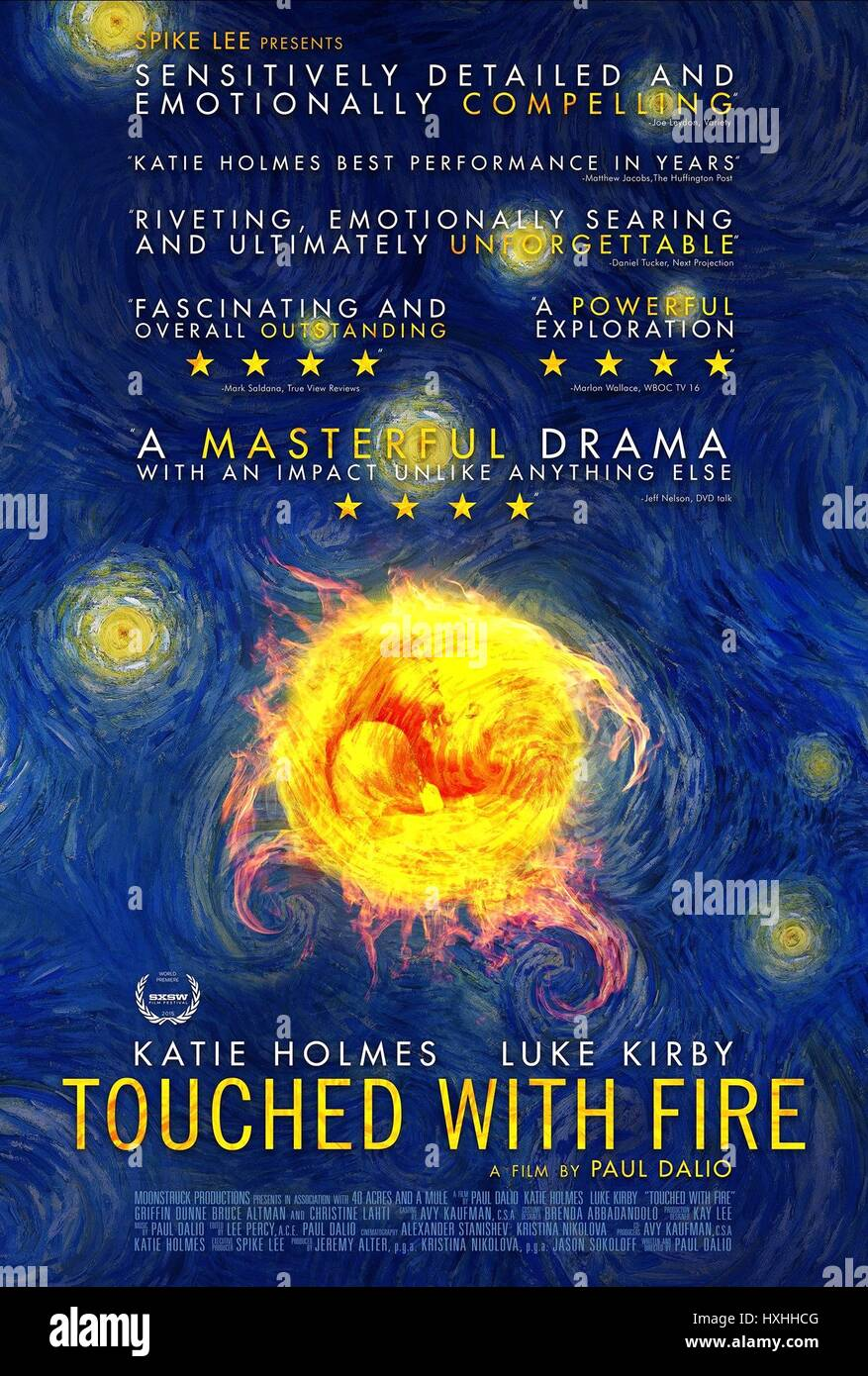 MOVIE POSTER MANIA DAYS; TOUCHED WITH FIRE (2015) - Stock Image