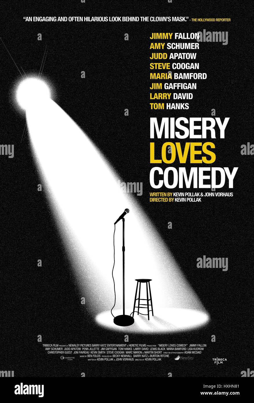 MOVIE POSTER MISERY LOVES COMEDY (2015) Stock Photo