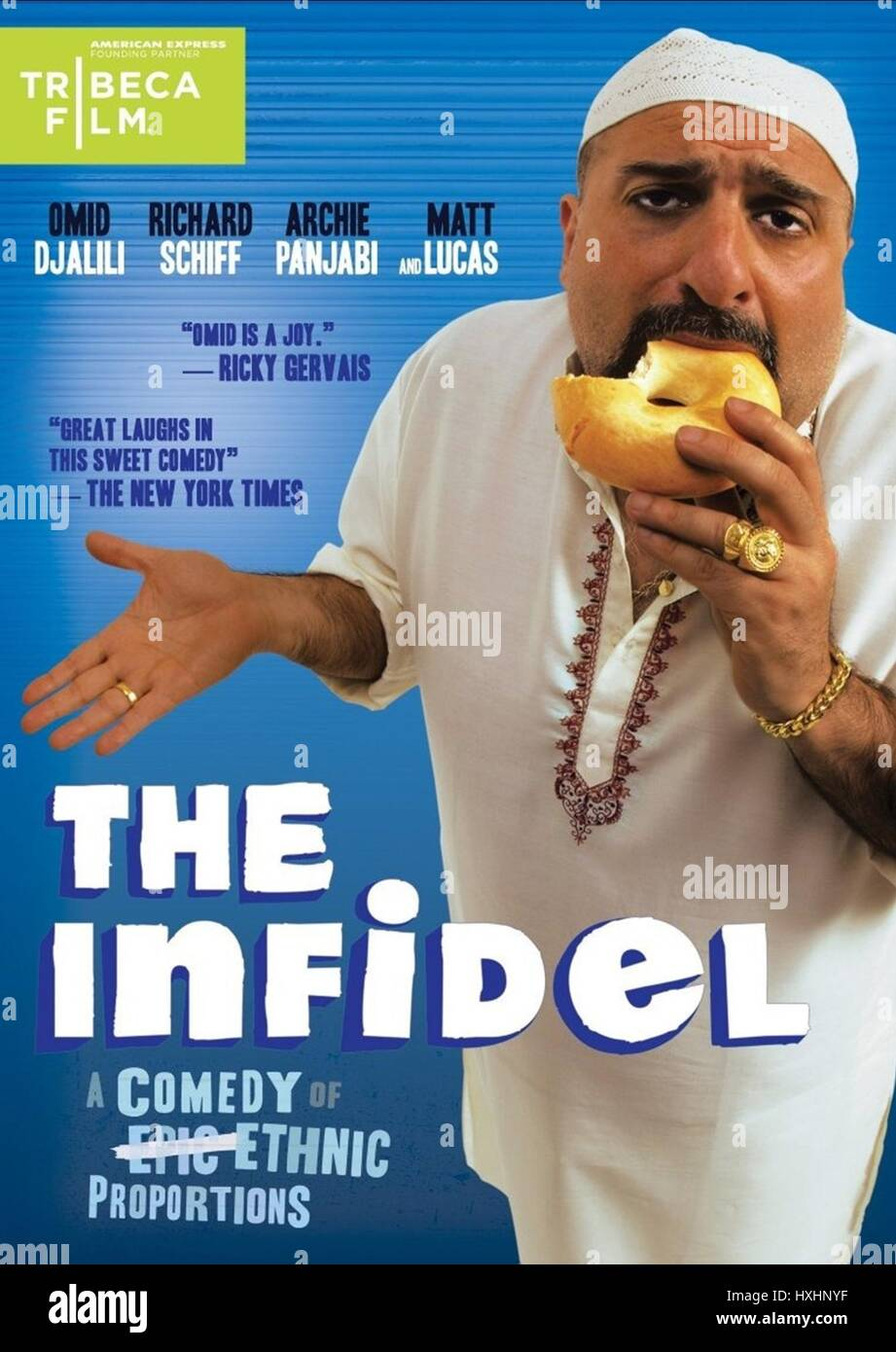 OMID DJALILI POSTER THE INFIDEL (2010) - Stock Image