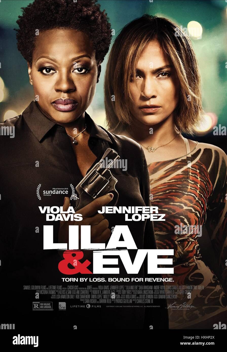VIOLA DAVIS & JENNIFER LOPEZ POSTER LILA & EVE (2015) - Stock Image
