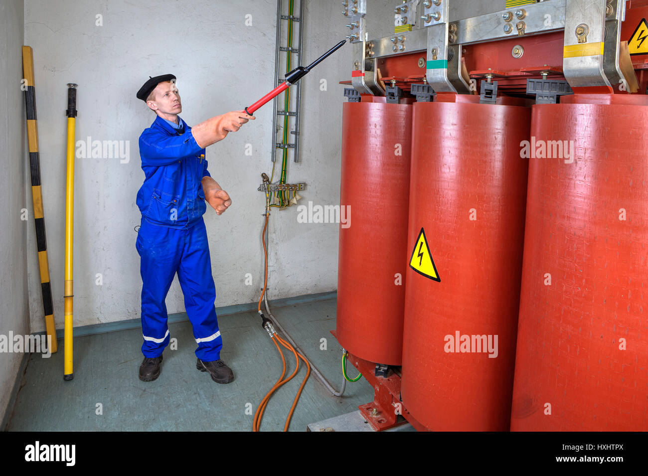 High Voltage Tester Stick : Grounding rod stock photos images