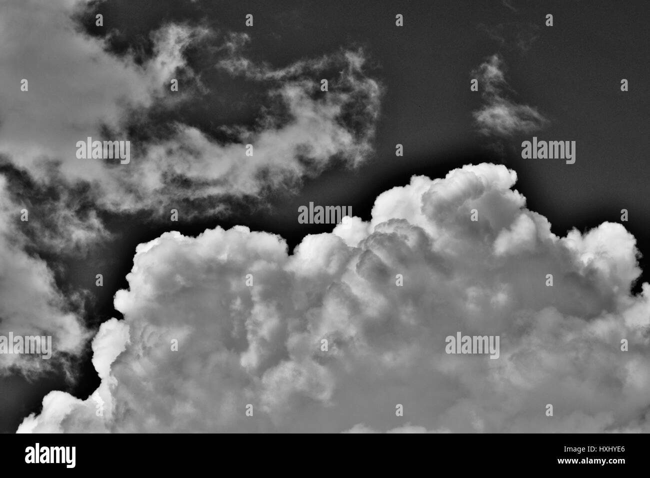 clouds in black and white - Stock Image