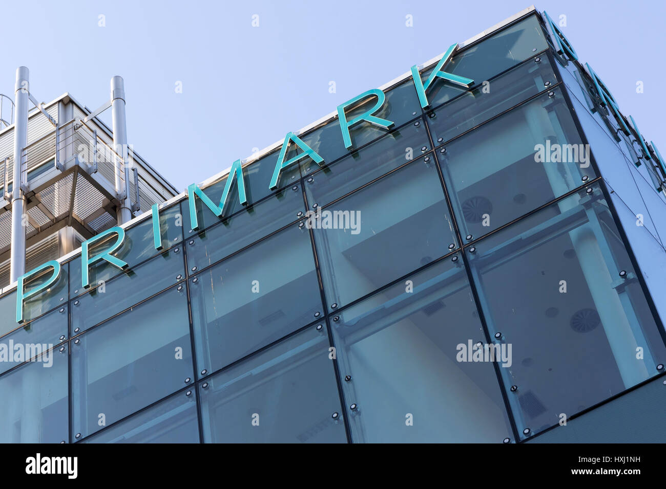 Lettering at Primark store in Cologne/ Germany. Primark is an Irish clothing retailer and a subsidiary of Associated - Stock Image