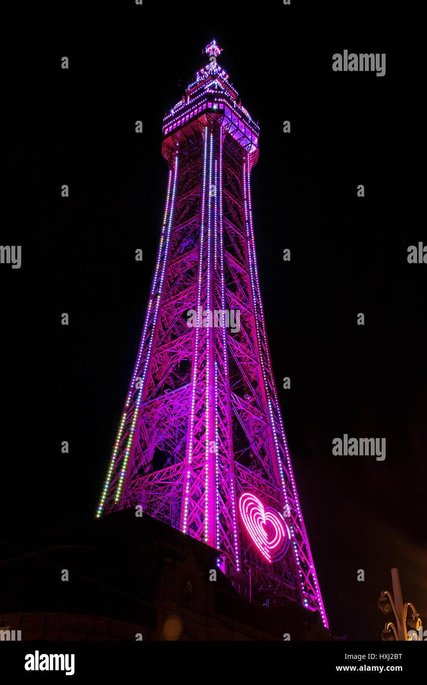 Under Blackpool Tower - Stock Image
