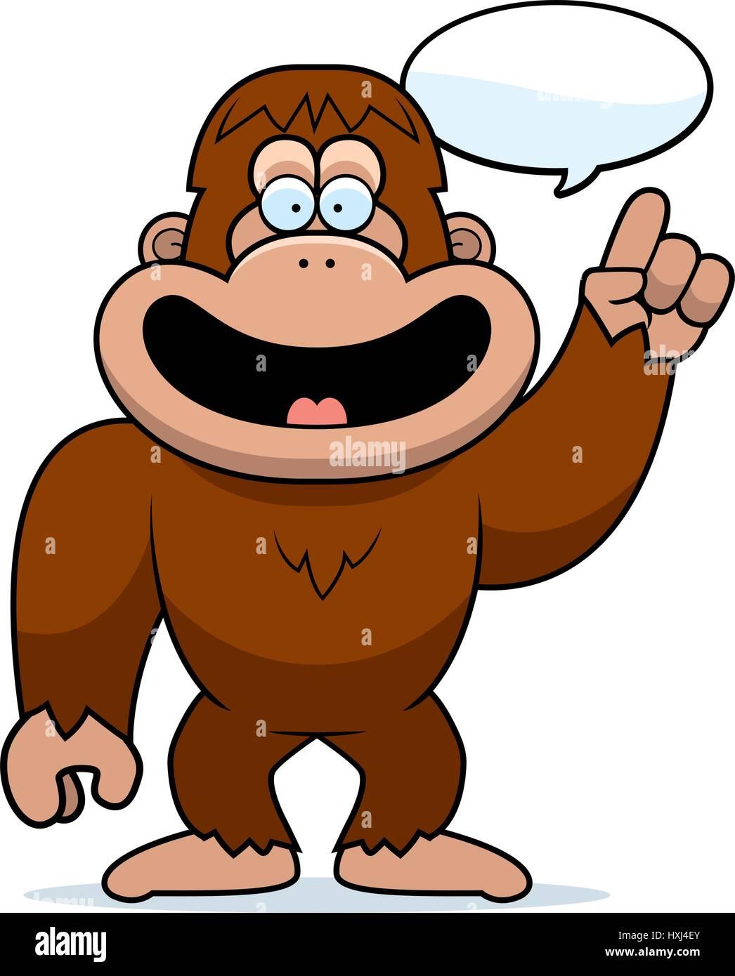a cartoon illustration of a bigfoot talking stock vector art rh alamy com bigfoot feet clipart cute bigfoot clipart