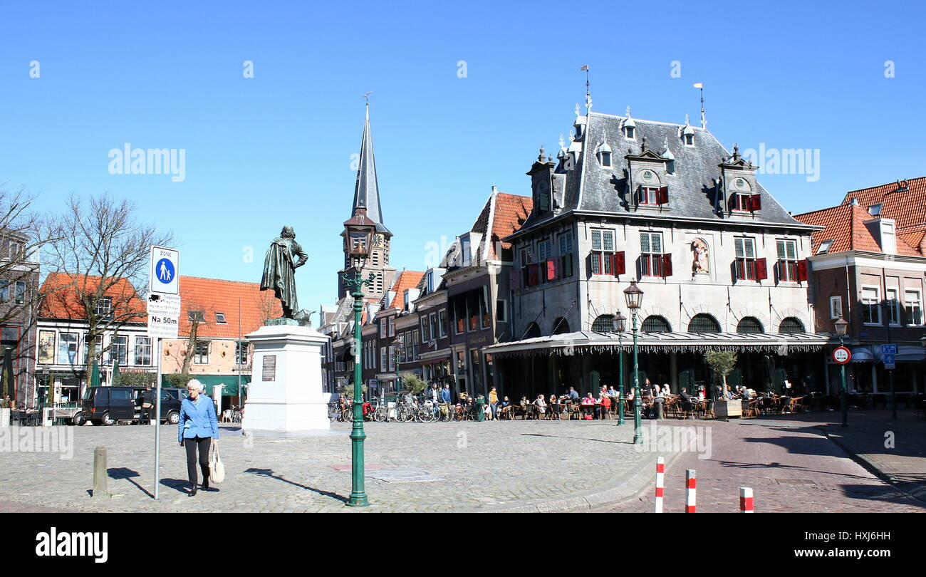 De Waag (1609, Hendrick de Keyser), former weighing house in the  city centre of Hoorn, North Holland, Netherlands. - Stock Image