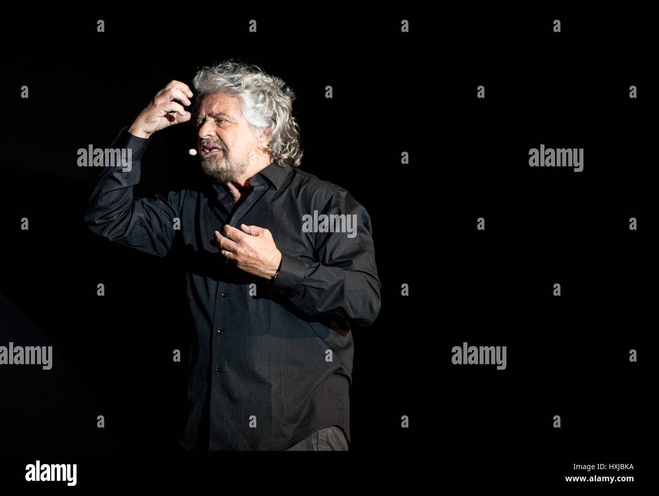 Turin, Italy. 28th March, 2017. The Italian comedian and Politician (leader of 'movimento cinque stelle') - Stock Image