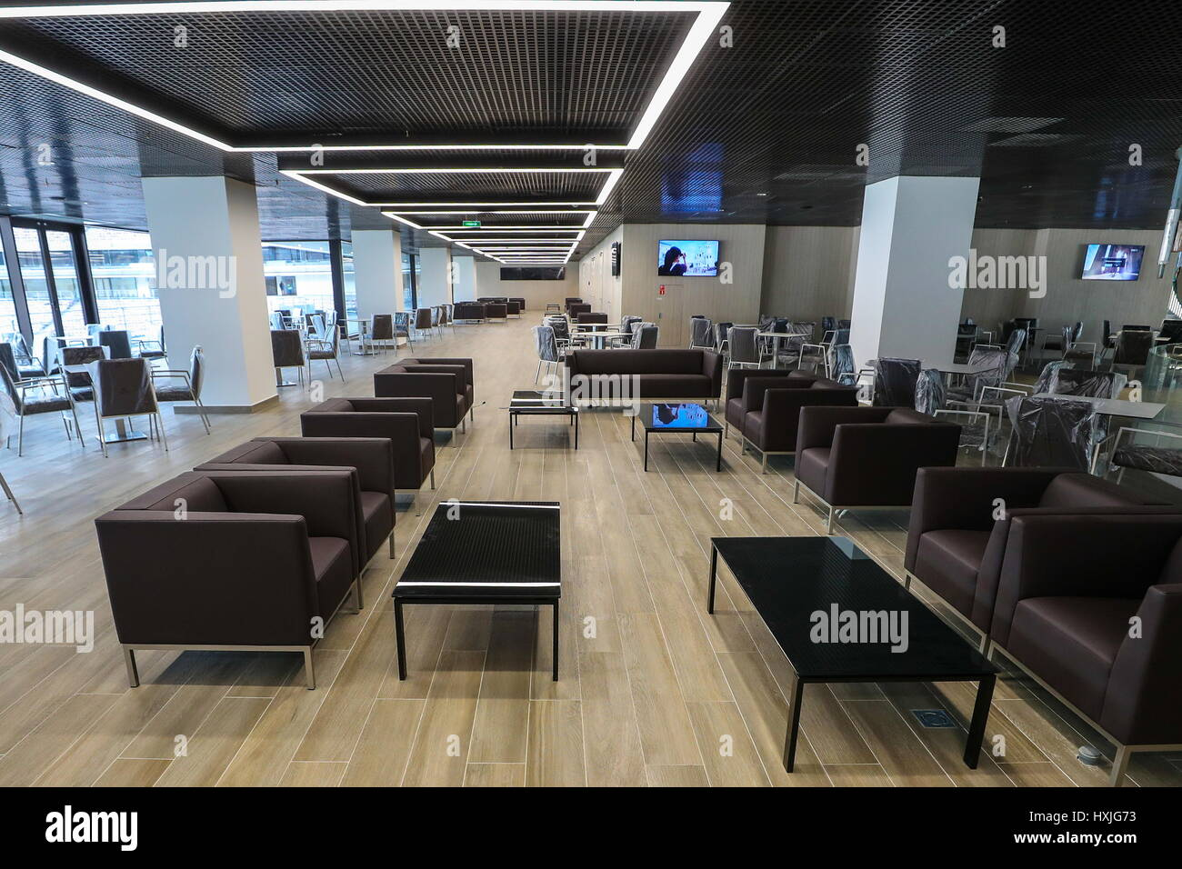 A VIP area at the Luzhniki Stadium that is being renovated ahead of the  2018 FIFA World Cup. Credit: Valery Sharifulin/TASS/Alamy Live News