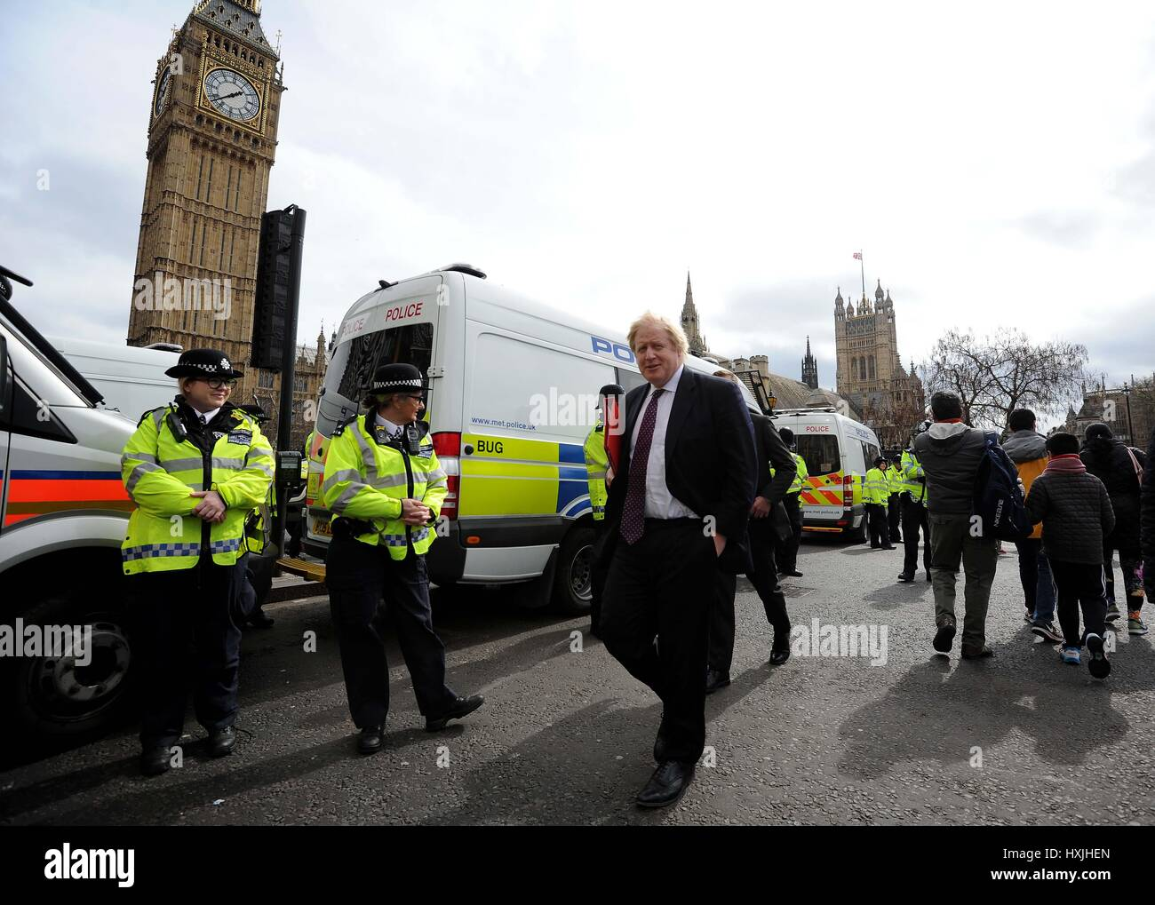 Boris Johnson MP, (Secretary of State for Foreign Affairs) Credit: Finnbarr Webster/Alamy Live News - Stock Image