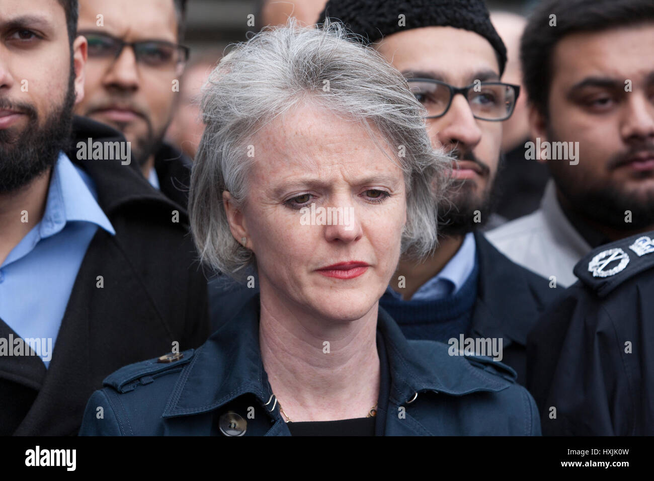 Westminster Bridge, London, UK. 29th Mar, 2017. Sophie Linden is a British politician, and currently the Deputy - Stock Image