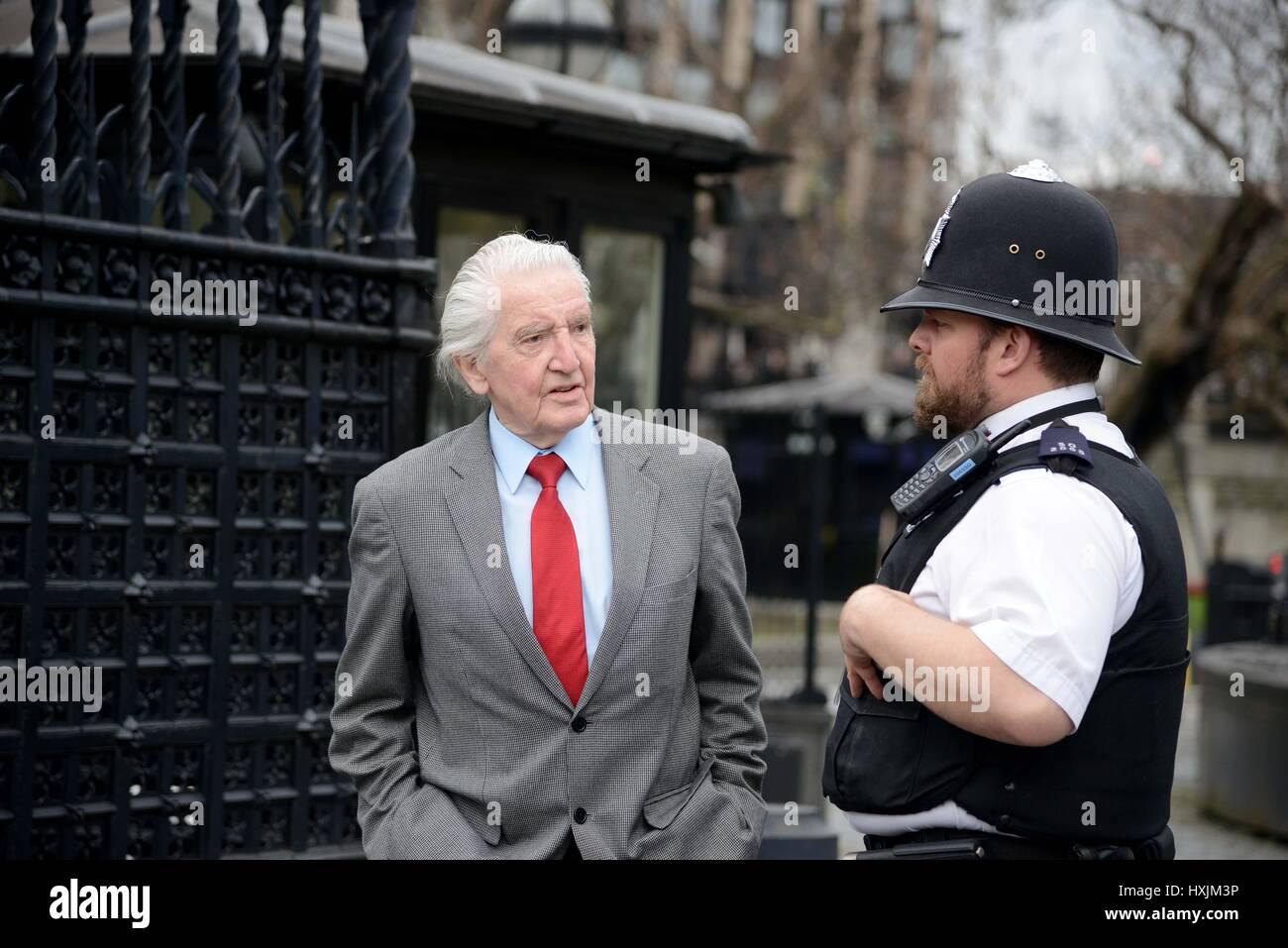 Dennis Skinner MP, Credit: Finnbarr Webster/Alamy Live News - Stock Image