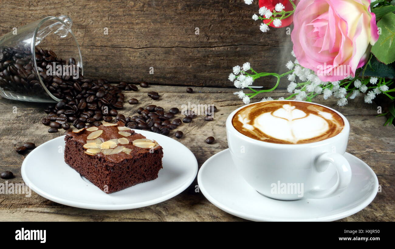 Brownies With Coffee Beans