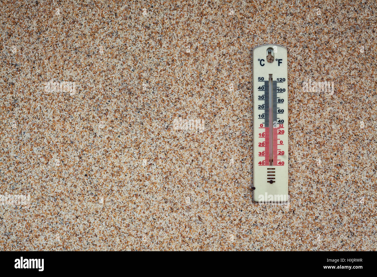 Details Of A Thermometer On Brown Wall Showing Temperature In Stock Photo Alamy Instrument for measuring temperature temperature, measure of the relative warmth or coolness of an object. alamy