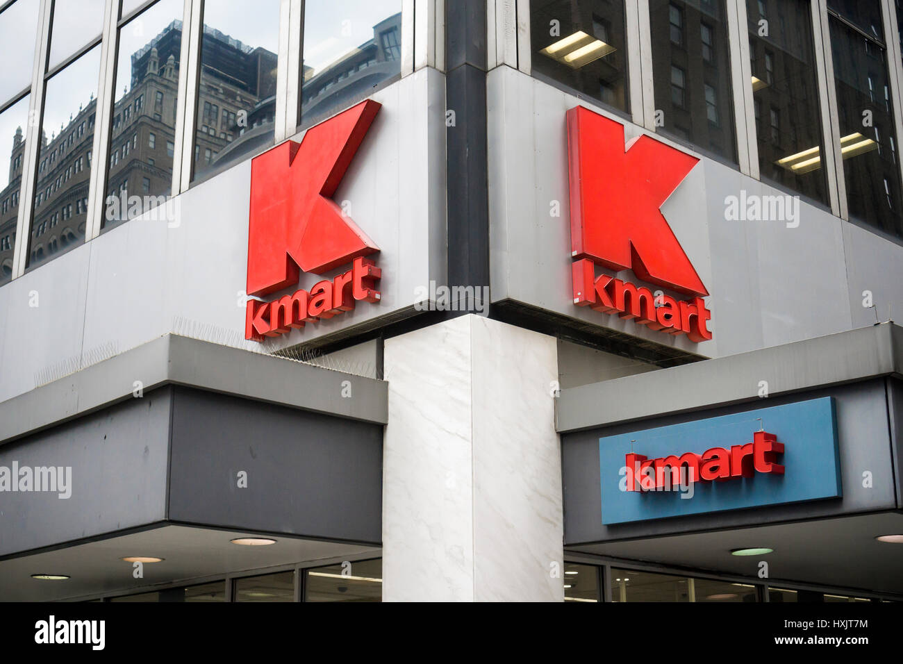 A KMart store in New York on Friday, March 24, 2017. The embattled Sears Holdings, the owner of KMart and Sears, Stock Photo
