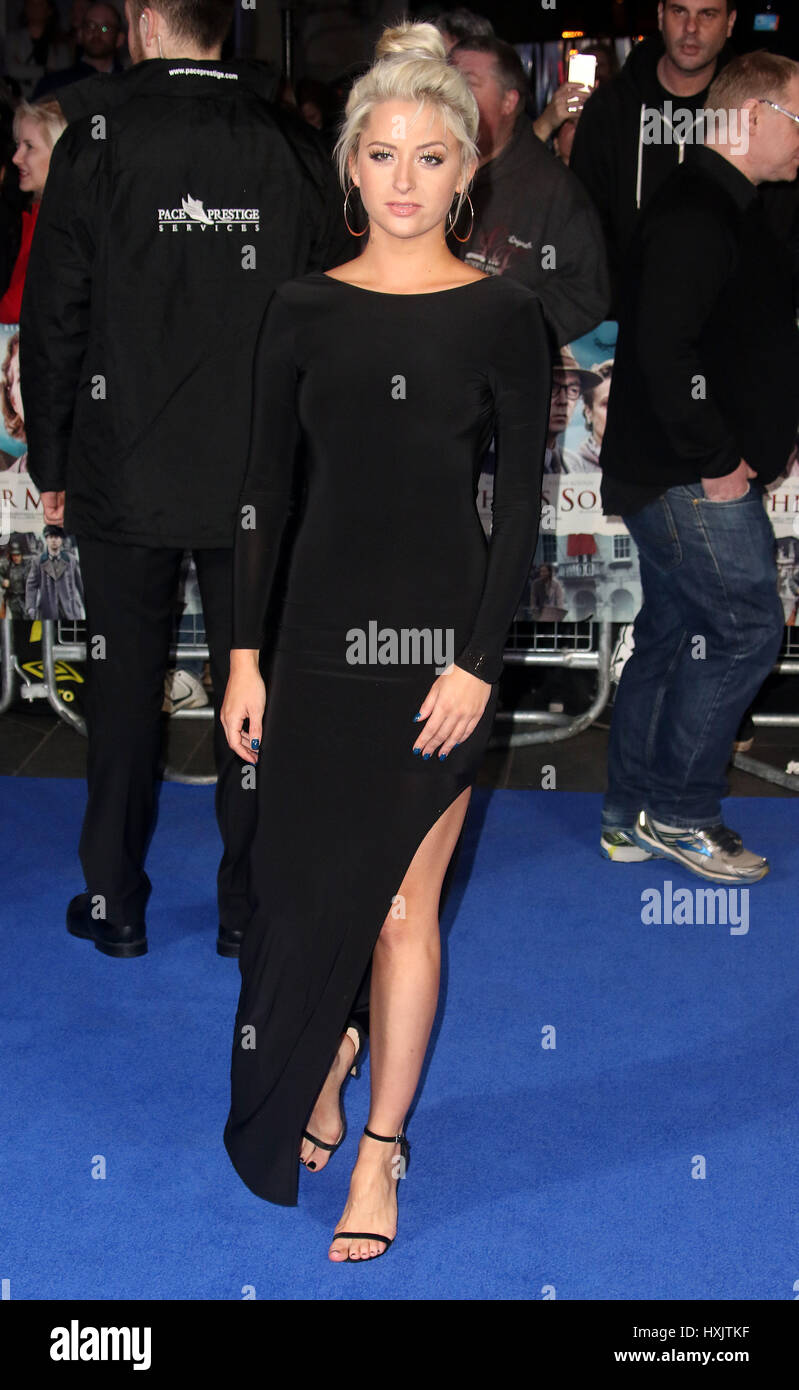 Mar 16, 2017 - Chloe Paige attending Another Mother's Son' World Premiere, Odeon Leicester Square in London, - Stock Image