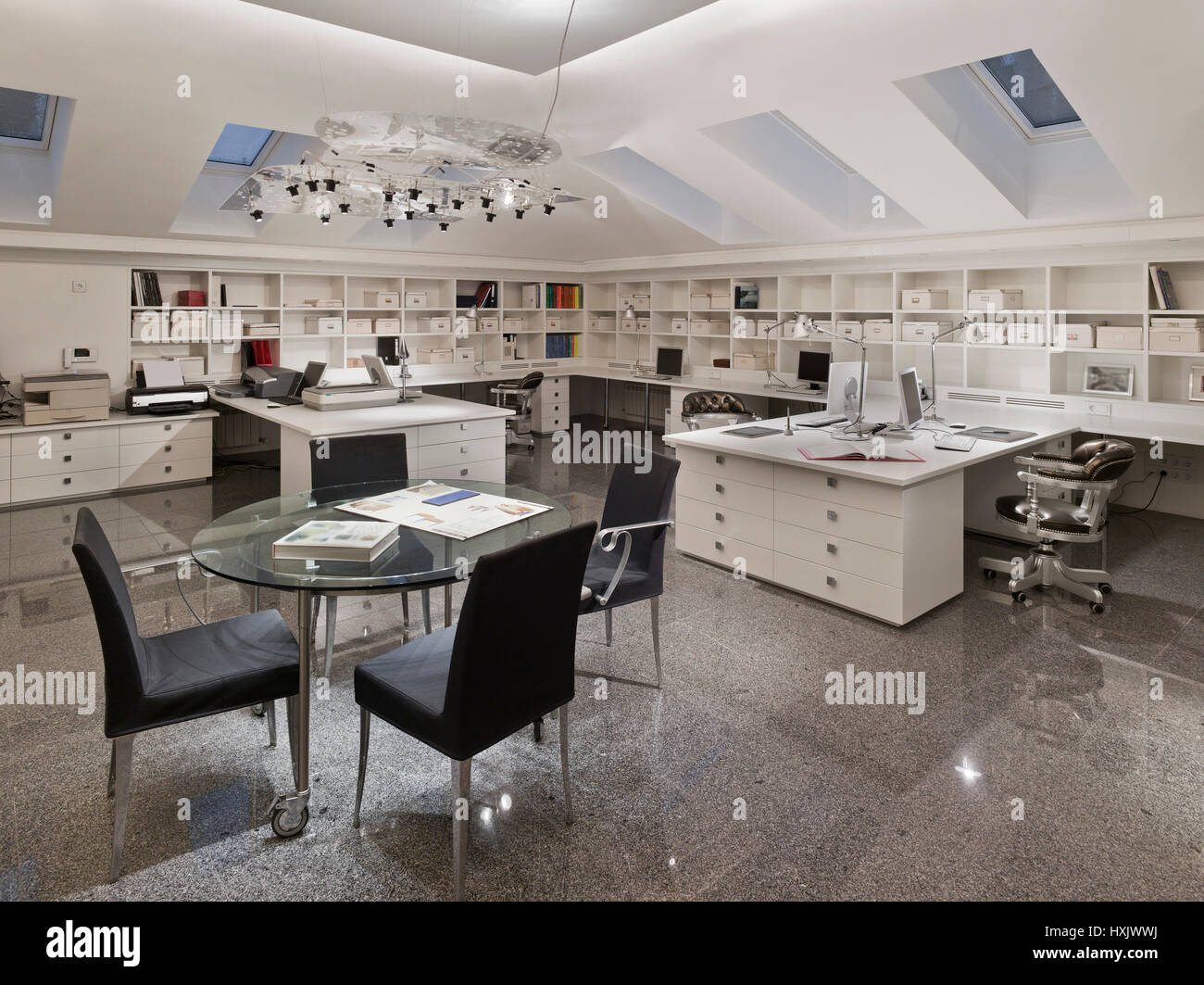 Architectural Bureau Firma Office Interior Bureau Design Stock Photo Alamy